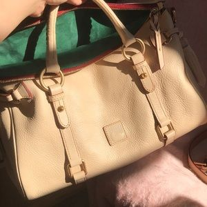 Medium Florentine satchel in bone